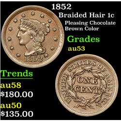 1852 Braided Hair Large Cent 1c Grades Select AU