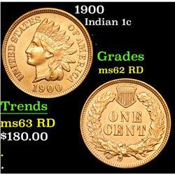 1900 Indian Cent 1c Grades Select Unc RD