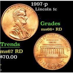 1997-p Lincoln Cent 1c Grades GEM++ RD