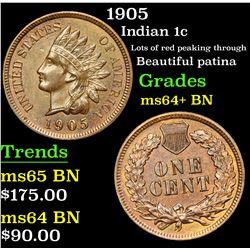 1905 Indian Cent 1c Grades Choice+ Unc BN