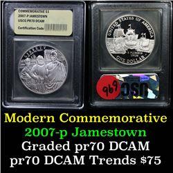 2007-p Jamestown Modern Commem Dollar $1 Graded ms70, Perfection By USCG