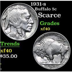 1931-s Buffalo Nickel 5c Grades xf