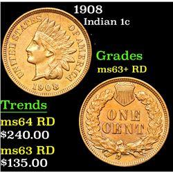 1908 Indian Cent 1c Grades Select+ Unc RD