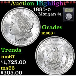 ***Auction Highlight*** 1885-o Morgan Dollar $1 Graded GEM++ Unc By USCG (fc)