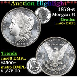 ***Auction Highlight*** 1879-s Morgan Dollar $1 Graded GEM+ DMPL By USCG (fc)