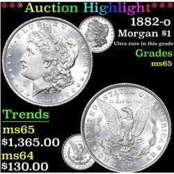 ***Auction Highlight*** 1882-o Morgan Dollar $1 Graded GEM Unc By USCG (fc)