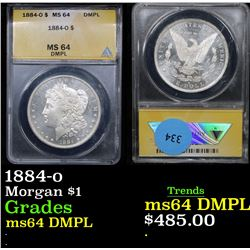 ANACS 1884-o Morgan Dollar $1 Graded Choice Unc DMPL By ANACS
