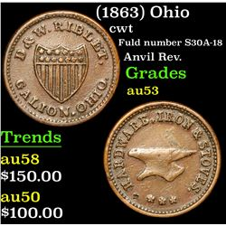 (1863) Ohio Civil War Token 1c Grades Select AU