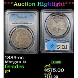 ***Auction Highlight*** PCGS 1889-cc Morgan Dollar $1 Graded g4 By PCGS (fc)