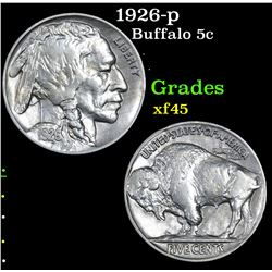 1926-p Buffalo Nickel 5c Grades xf+