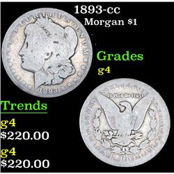 1893-cc Morgan Dollar $1 Grades g, good