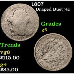 1807 Draped Bust Half Cent 1/2c Grades g+