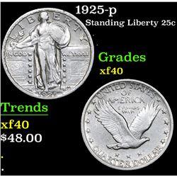 1925-p Standing Liberty Quarter 25c Grades xf