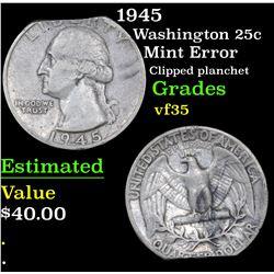 1945 Washington Quarter 25c Grades vf++