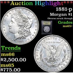 ***Auction Highlight*** 1881-p Morgan Dollar $1 Graded GEM+ Unc By USCG (fc)
