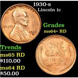 1930-s Lincoln Cent 1c Grades Choice+ Unc RD