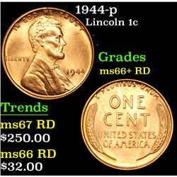 1944-p Lincoln Cent 1c Grades GEM++ RD