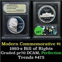1993-s Bill Of Rights Modern Commem Dollar $1 Graded GEM++ Proof Deep Cameo By USCG