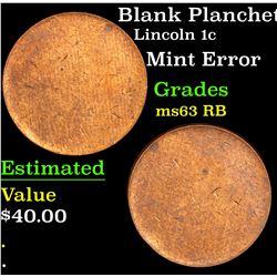Blank Planchet Lincoln Cent 1c Grades Select Unc RB