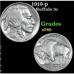 1919-p Buffalo Nickel 5c Grades xf