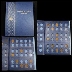 Starter Lincoln cent book 1909-1940, 11 coins . .
