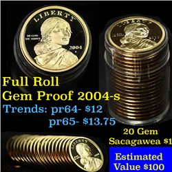 Proof 2004-s Sacagawea dollar roll $1, 20 pieces
