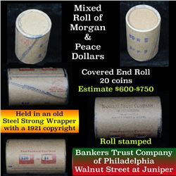 ***Auction Highlight*** Morgan & Peace $1 Mixed Roll Steel Strong Shotgun Wrapper w/Covered Ends (fc