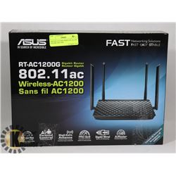 ASUS RT-AC1200G WIRELESS AC1200 GIGABIT ROUTER.
