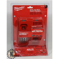 NEW MILWAUKEE M18 +  M12 RAPID CHARGER