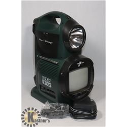 NEXXTECH PORTABLE TV, RADIO AND LANTERN WITH 12V
