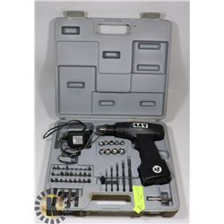 4.8 VOLT CORDLESS DRILL SET WITH LOTS OF