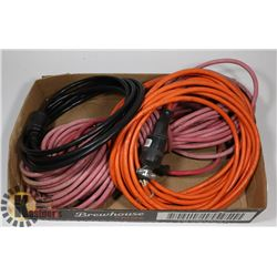 FLAT OF ASSORTED EXTENSION CORDS