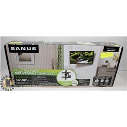 """SANUS VMF518-B3 FULL MOTION 40""""-50"""" TV WALL MOUNT."""