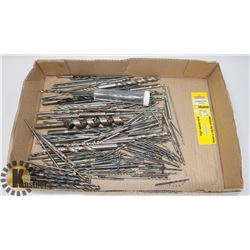 LARGE FLAT OF DRILL BITS AND MORE