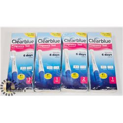 BAG OF CLEAR BLUE PREGNANCY TEST