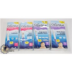 BAG OF CLEAR BLUE PREGNANCY TESTS AND OVULATION