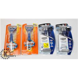 BAG OF SCHICK AND GILLETTE RAZORS