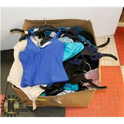 BOX OF ASSORTED WOMENS CLOTHING, APPEARS TO BE