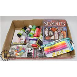 LOT OF CRAFT SUPPLIES & SCRAP BOOKING ITEMS