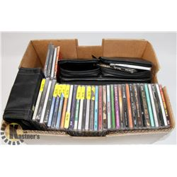 COLLECTION OF CD'S IN CASE & 2 CASES OF MIXED CD'S