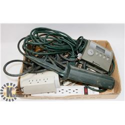 LARGE FLAT OF EXTENSION CORDS, OUTDOOR CORDS &