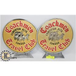 LOT OF TWO COACHMEN TRAVEL CLUB METAL SIGNS