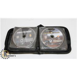 CD WALLET FULL OF PLAYSTATION 3 GAMES