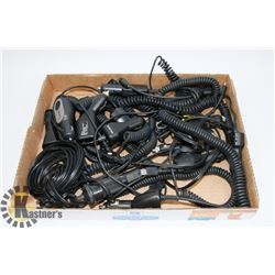 FLAT OF ASSORTED 12V POWER SUPPLY CABLES