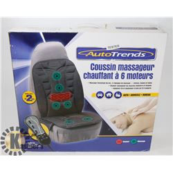 AUTOTRENDS 6 MOTOR MASSAGE & HEAT CUSHION