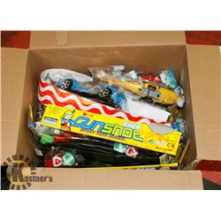 BOX OF ASSORTED KIDS TOYS
