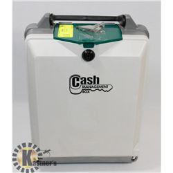 CASH BOX WITH KEYS.