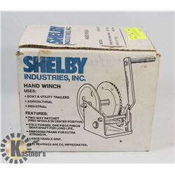 SHELBY INDUSTRIES HAND WINCH.