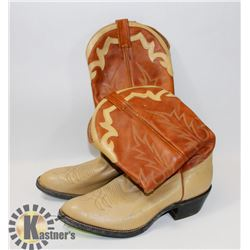 NEW 2 TONE BROWN 10.5 COWBOY BOOTS.
