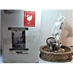 5) ANGELA TABLE TOP FOUNTAIN WITH PUMP